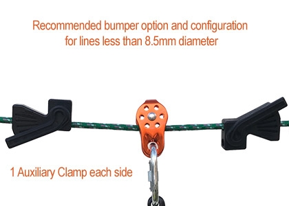 Use a clamp on each side instead of a bumper